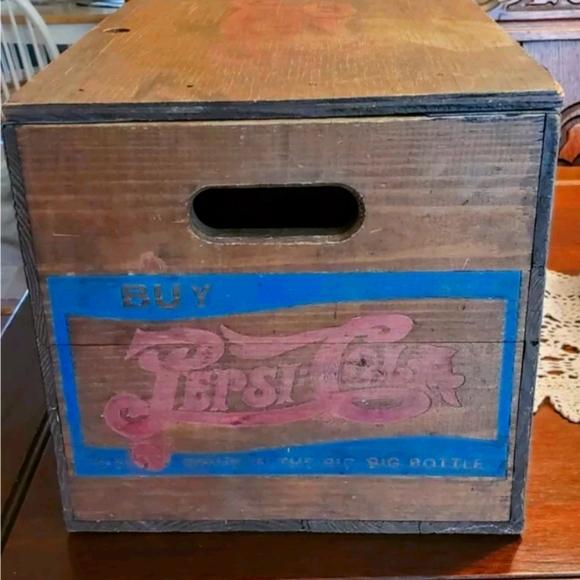 Vintage Pepsi Cola Wooden Crate Checker Board Lid